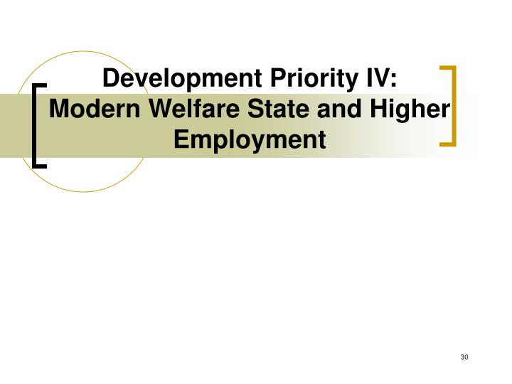 Development Priority IV: