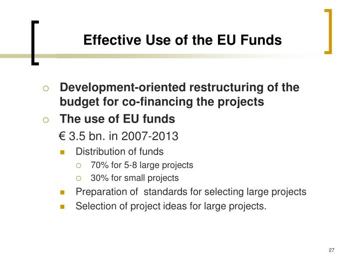 Effective Use of the EU Funds