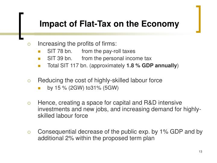Impact of Flat-Tax on the Economy