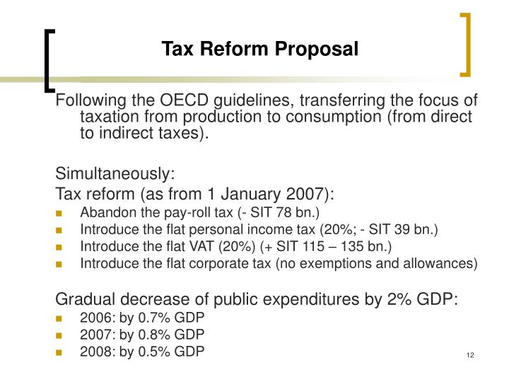 Tax Reform Proposal