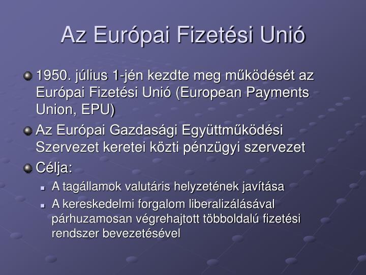 Az Európai Fizetési Unió