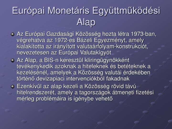 Európai Monetáris Együttműködési Alap