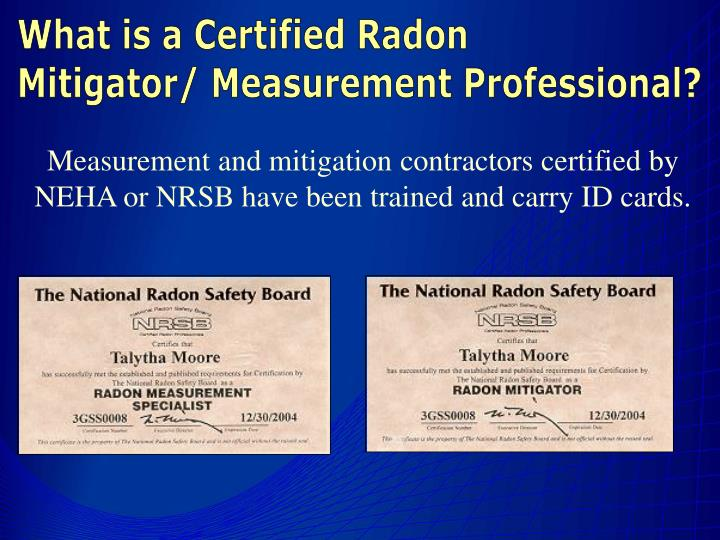What is a Certified Radon