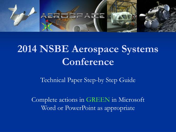 2014 nsbe aerospace systems conference n.