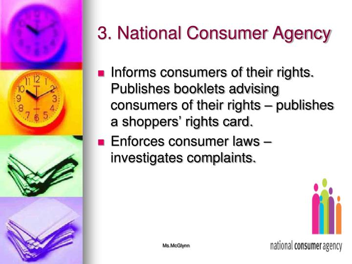3. National Consumer Agency