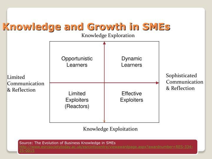 Knowledge and Growth in SMEs