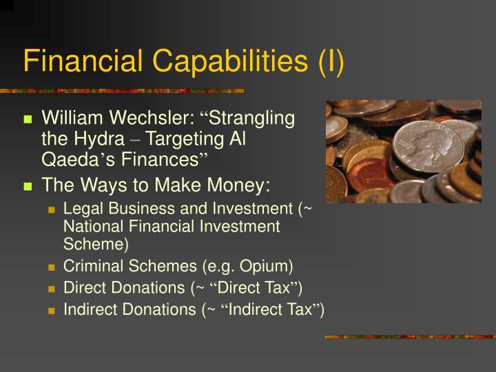 Financial Capabilities (I)