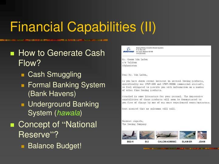 Financial Capabilities (II)
