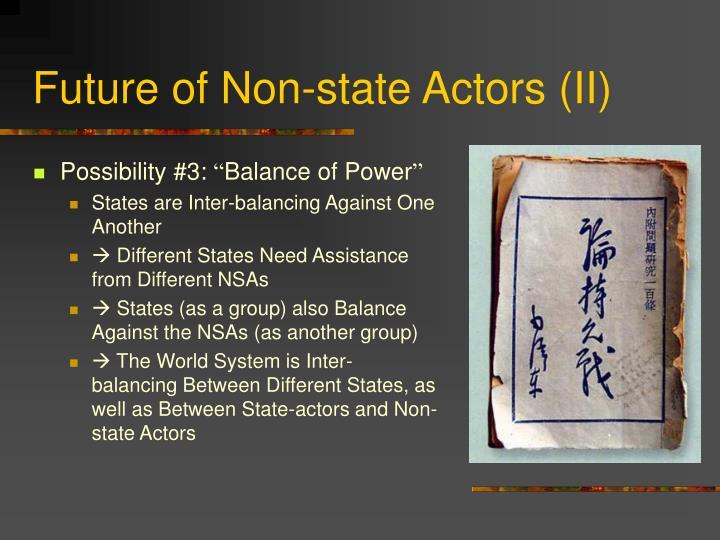 Future of Non-state Actors (II)