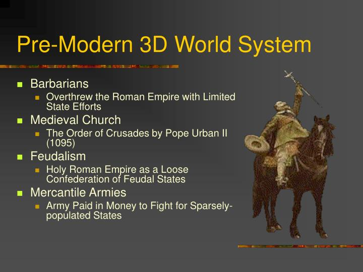 Pre-Modern 3D World System