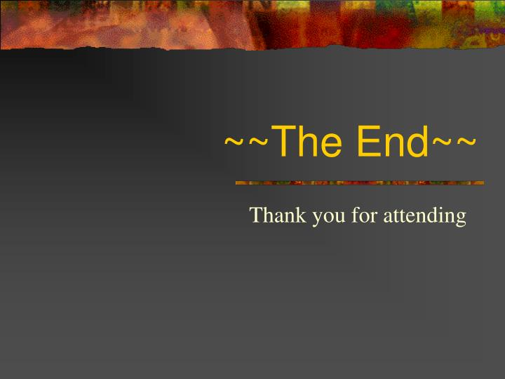 ~~The End~~