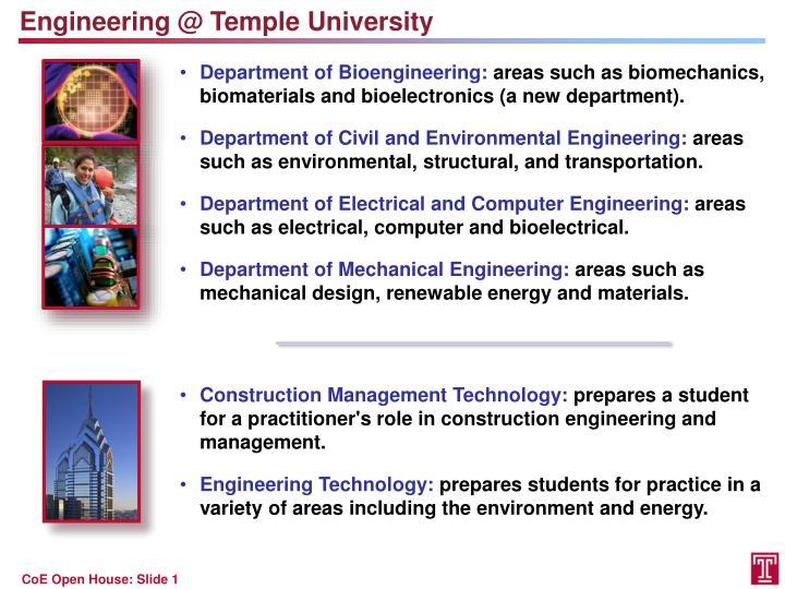 Engineering @ Temple University