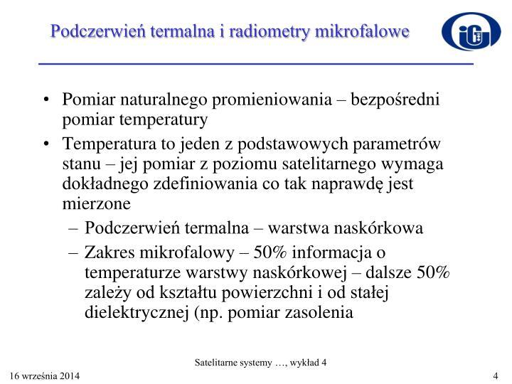 Podczerwień termalna i radiometry mikrofalowe