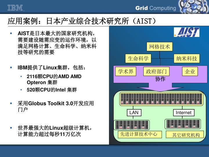应用案例:日本产业综合技术研究所(