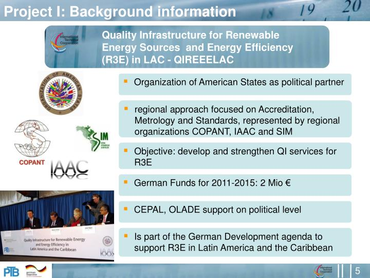 Project I: Background information