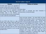 action taken report