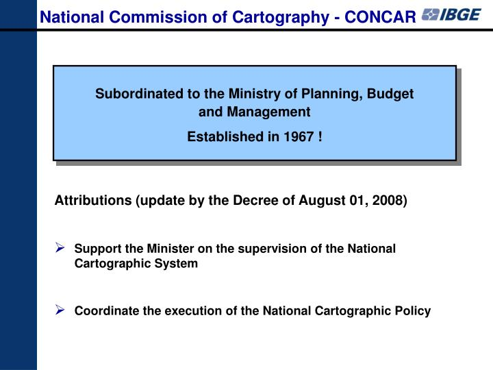 National Commission of Cartography - CONCAR