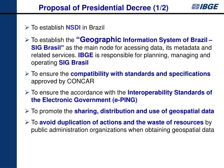 Proposal of Presidential Decree (1/2)