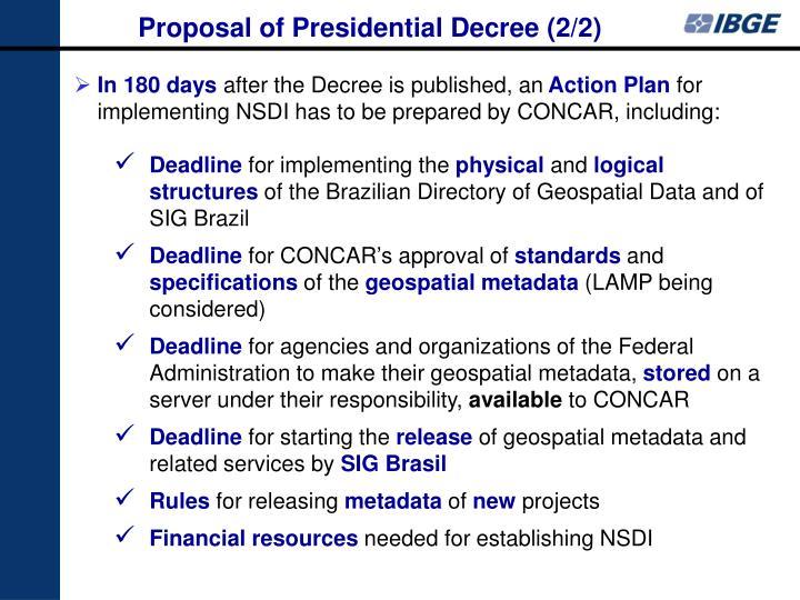 Proposal of Presidential Decree (2/2)