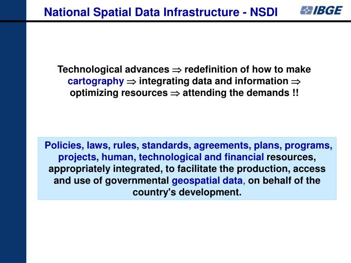 National Spatial Data Infrastructure - NSDI