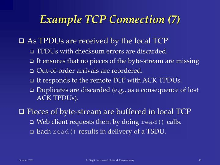 Example TCP Connection (7)