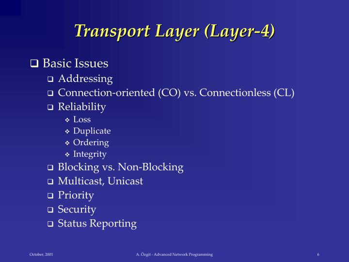 Transport Layer (Layer-4)