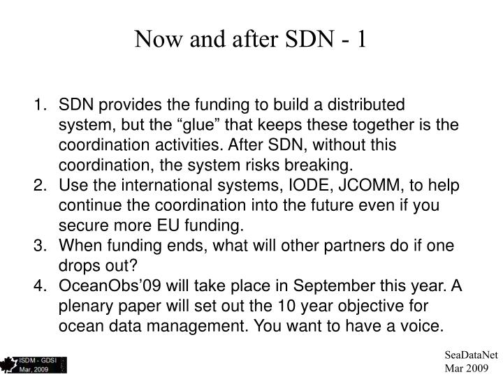 Now and after SDN - 1
