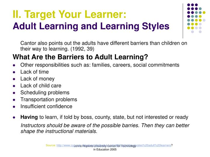 Paul Wilmarth Case Study Experiences of an adult learner a.