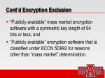 cont d encryption exclusion