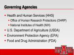 governing agencies