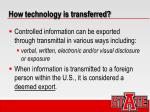 how technology is transferred