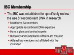 ibc membership