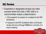 ibc review