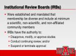 institutional review boards irbs