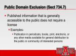public domain exclusion sect 734 7
