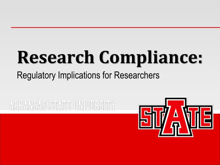 research compliance n.