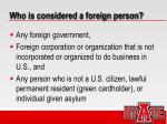 who is considered a foreign person
