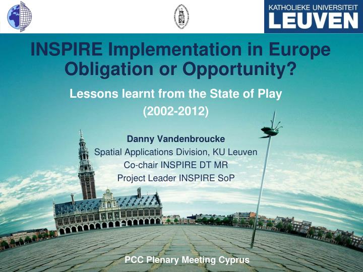 inspire implementation in europe obligation or opportunity n.