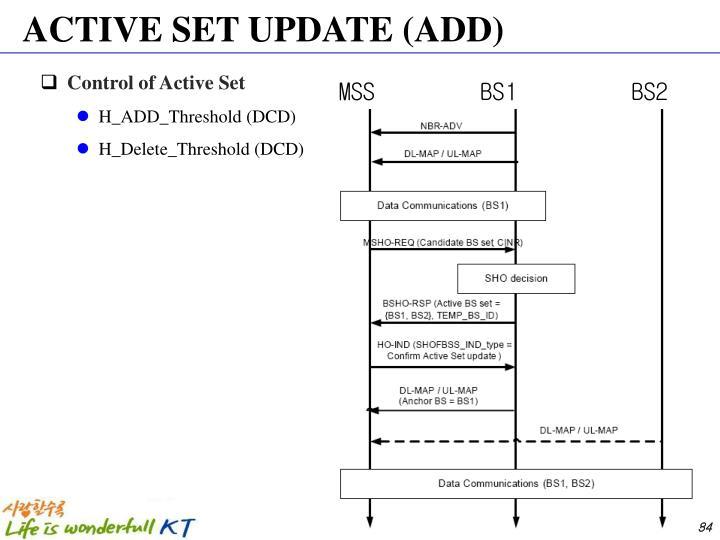 ACTIVE SET UPDATE (ADD)