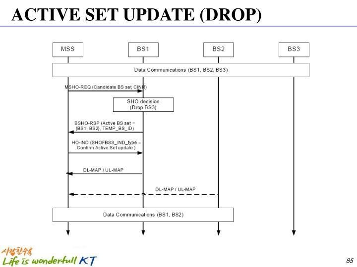 ACTIVE SET UPDATE (DROP)
