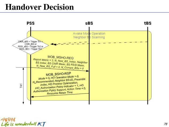 Handover Decision