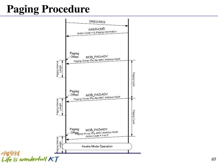 Paging Procedure