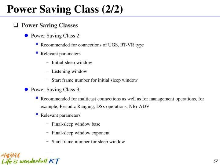 Power Saving Class (2/2)