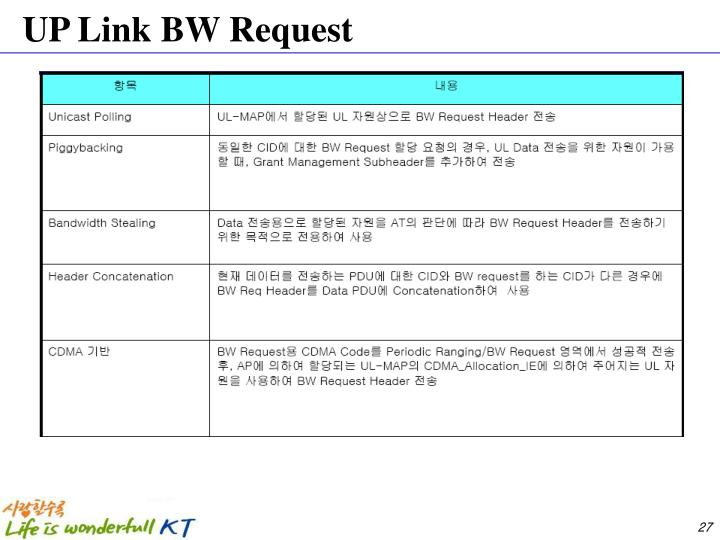 UP Link BW Request
