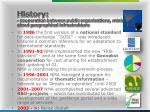 history cooperation between public organisations ministries etc about geographical infrastrukture