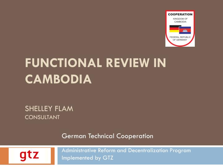 functional review in cambodia shelley flam consultant n.