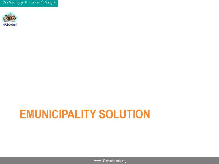 eMunicipality Solution
