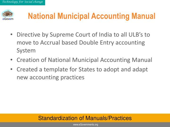 National Municipal Accounting Manual