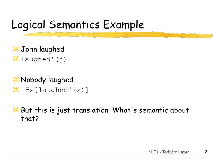 Ppt Compositional Logical Semantics Powerpoint Presentation Id
