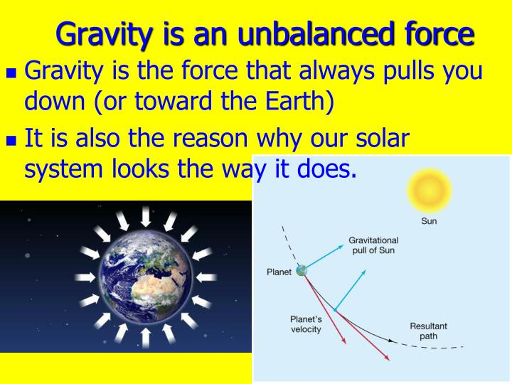 Gravity is an unbalanced force